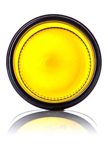 9 oz amber glass straight-sided round jar with 70-400 neck finish