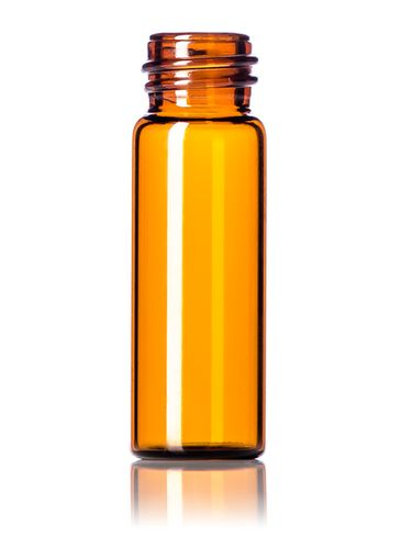 1 dram amber glass vial with 13-425 neck finish
