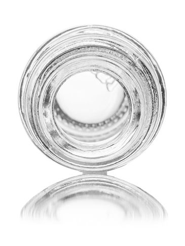 5 mL clear glass boston round euro dropper bottle with 18-DIN neck finish