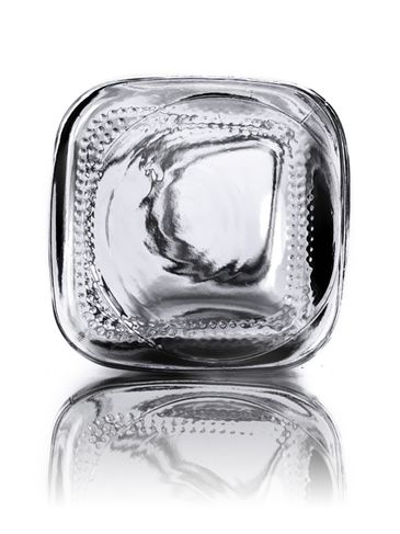 4 oz clear glass french square bottle with 33-400 neck finish