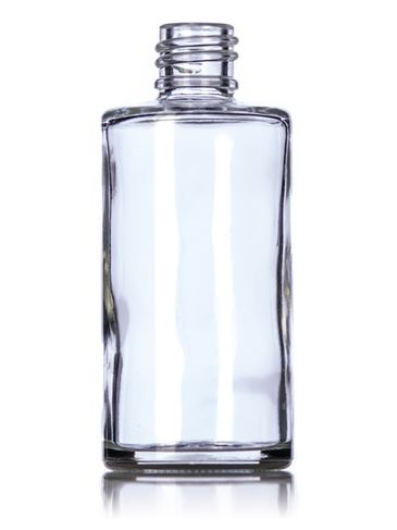 2 oz clear glass rio round bottle with 18-415 neck finish