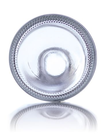 4 oz clear glass rio round bottle with 20-415 neck finish