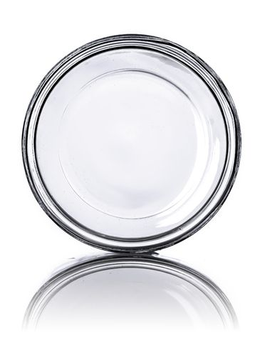 16 oz clear glass straight-sided round jar with 89-400 neck finish