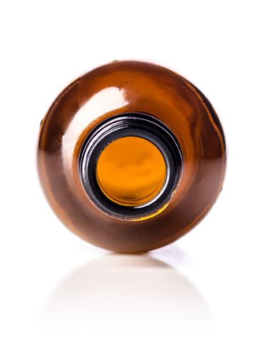 2 oz amber glass boston round bottle with 20-400 neck finish
