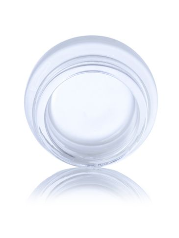 7 mL frosted glass low-profile jar with 38-400 neck finish