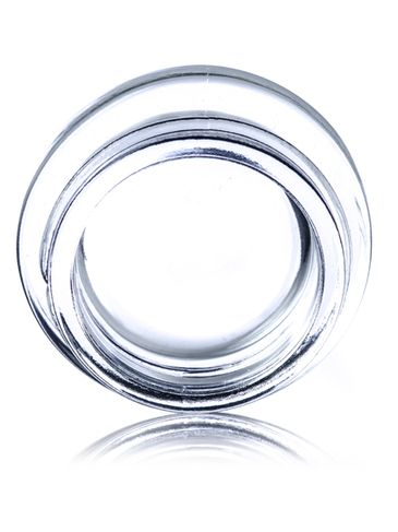 7 mL clear glass low-profile jar with 38-400 neck finish