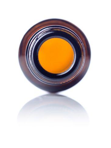 .5 oz amber glass boston round bottle with 18-400 neck finish