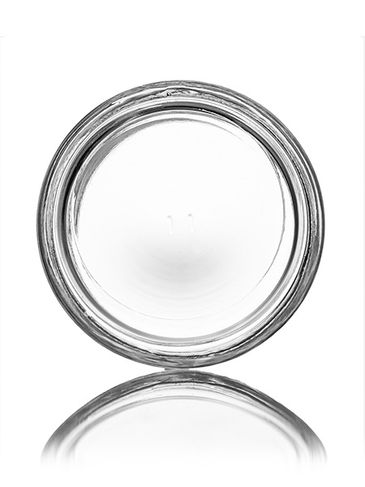 4 oz clear glass straight-sided round jar with 58-400 neck finish