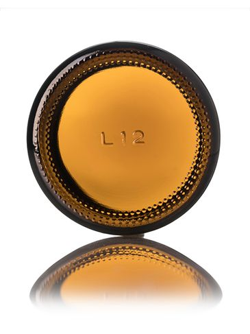 2 oz amber glass straight-sided round jar with 53-400 neck finish