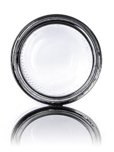 2 oz clear glass straight-sided round jar with 53-400 neck finish