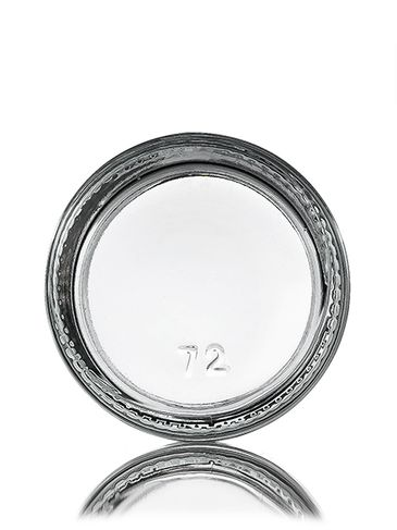 1 oz clear glass straight-sided round jar with 43-400 neck finish