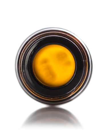 5 mL amber glass boston round euro dropper bottle with 18-DIN neck finish