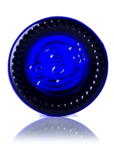 10 mL cobalt blue glass boston round euro dropper bottle with 18-DIN neck finish