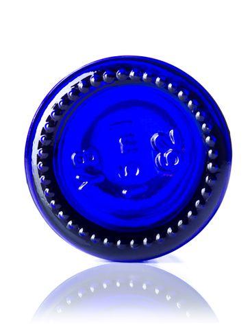 15 mL cobalt blue glass boston round euro dropper bottle with 18-DIN neck finish