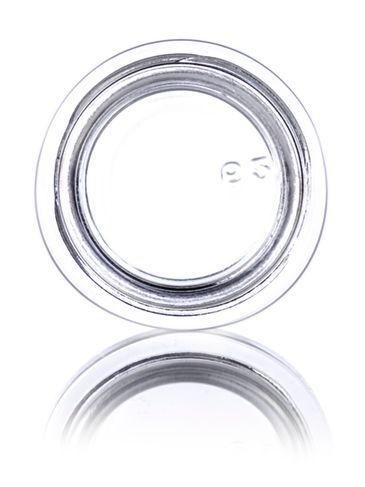 1/4 oz clear glass thick wall jar with 33-400 neck finish
