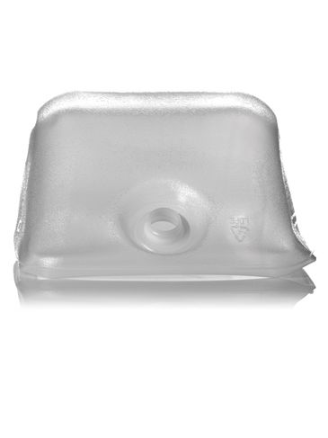 5 gallon clear LDPE plastic collapsible water container with 38-400 neck finish