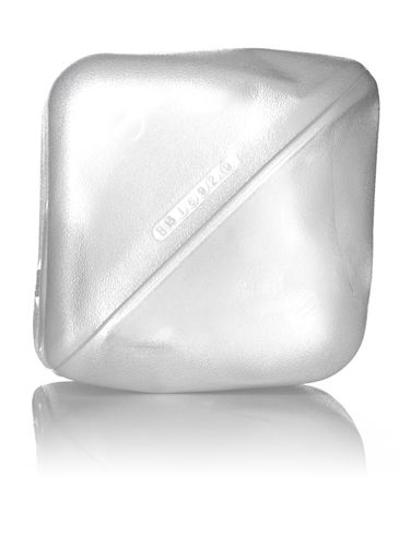 2.5 gallon clear LDPE plastic collapsible water container with 38-400 neck finish
