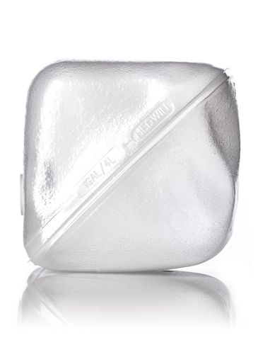1 gallon clear LDPE plastic collapsible water container with 38-400 neck finish