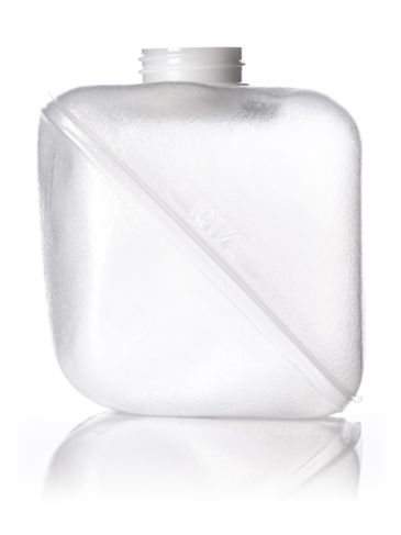 1 quart clear LDPE plastic collapsible water container with 38-400 neck finish