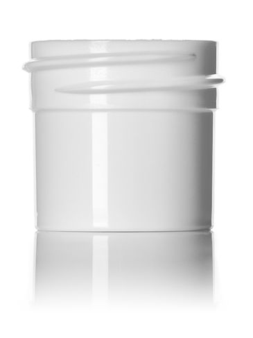 1/4 oz white PP plastic single wall jar with 33-400 neck finish