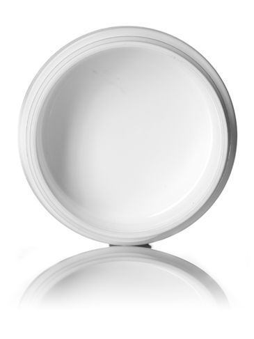 1/2 oz white PP/PS plastic double wall round base jar with 48-400 neck finish