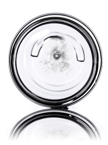 1 oz clear PET plastic single wall jar with 38-400 neck finish