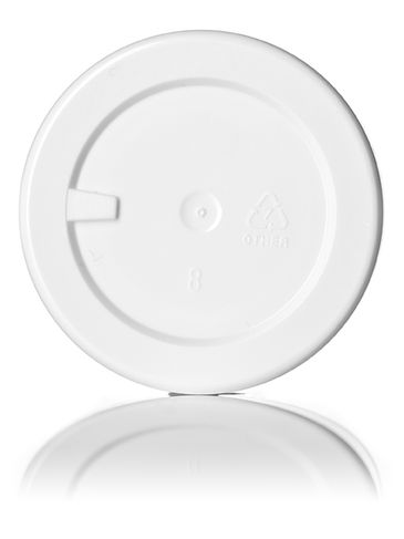 1 oz white PP/PS plastic double wall straight base jar with 53-400 neck finish