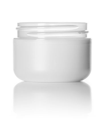 1 oz frosted PP/PS plastic double wall round base jar with 53-400 neck finish