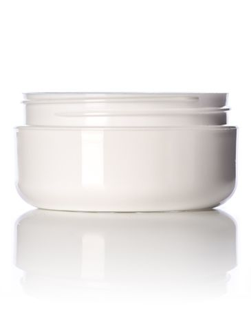 2 oz white PP plastic double wall round base low profile jar with 70-400 neck finish