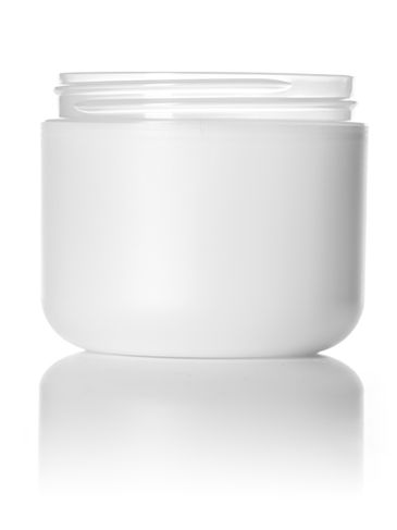 4 oz frosted PP/PS plastic double wall round base jar with 70-400 neck finish
