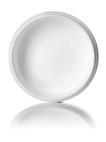 4 oz white PP plastic double wall round base low-profile jar with 89-400 neck finish