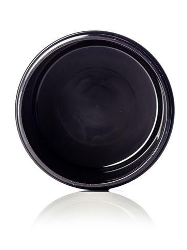 8 oz black PP plastic double wall round base jar with 89-400 neck finish