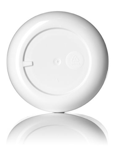 8 oz white PP/PS plastic double wall round base jar with 83-400 neck finish