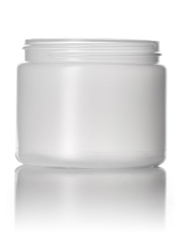 6 oz natural-colored HDPE plastic single wall jar with 70-400 neck finish