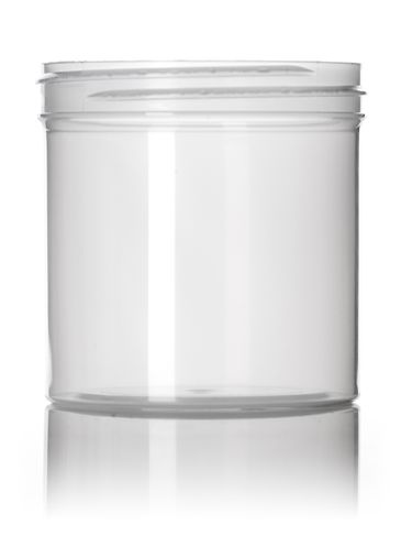 6 oz natural-colored PP plastic single wall jar with 70-400 neck finish