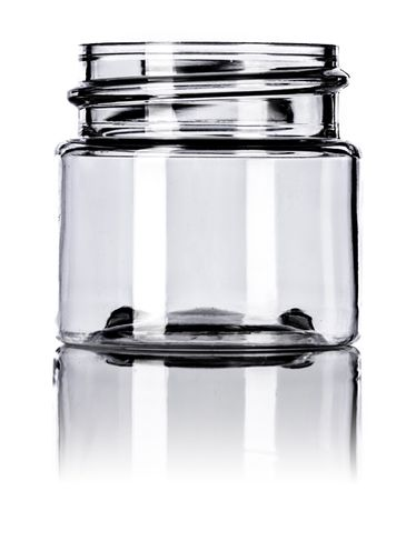 1/2 oz clear PET plastic single wall jar with 33-400 neck finish