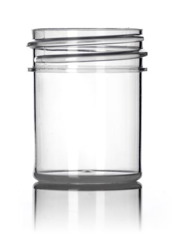 1/2 oz natural-colored PP plastic single wall jar with 33-400 neck finish