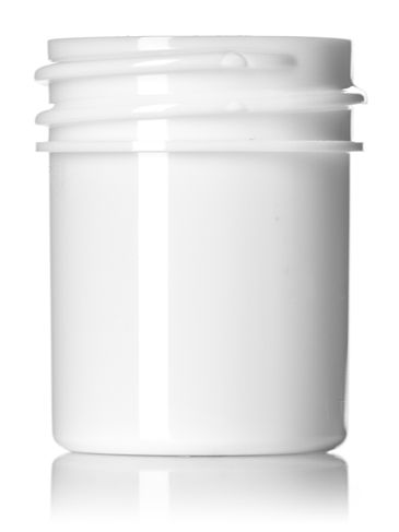 1/2 oz white PP plastic single wall jar with 33-400 neck finish