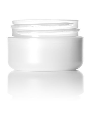 1/2 oz frosted PP/PS plastic double wall round base jar with 48-400 neck finish