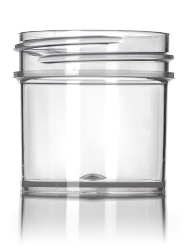 1 oz natural-colored PP plastic single wall jar with 43-400 neck finish