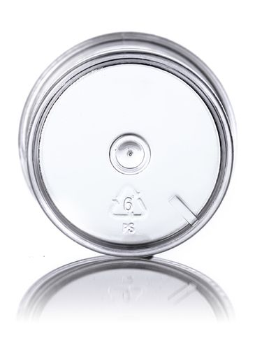 1 oz clear PS plastic single wall jar with 43-400 neck finish