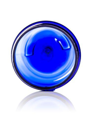 2 oz cobalt blue PET plastic single wall jar with 48-400 neck finish