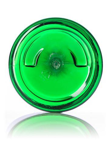 2 oz green PET plastic single wall jar with 48-400 neck finish