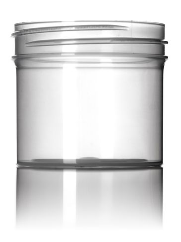 2 oz natural-colored PP plastic single wall jar with 53-400 neck finish