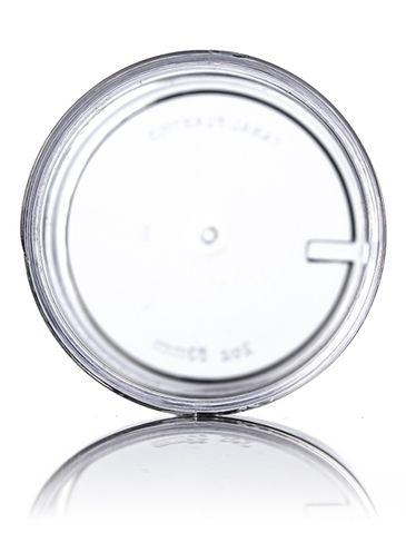 2 oz clear PS plastic single wall jar with 53-400 neck finish