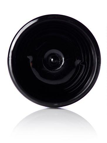 2 oz black PET plastic single wall jar with 58-400 neck finish