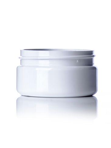 2 oz white PET plastic single wall jar with 58-400 neck finish