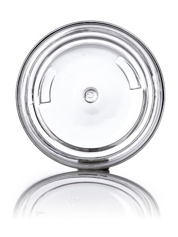 2 oz clear PET plastic single wall jar with 58-400 neck finish