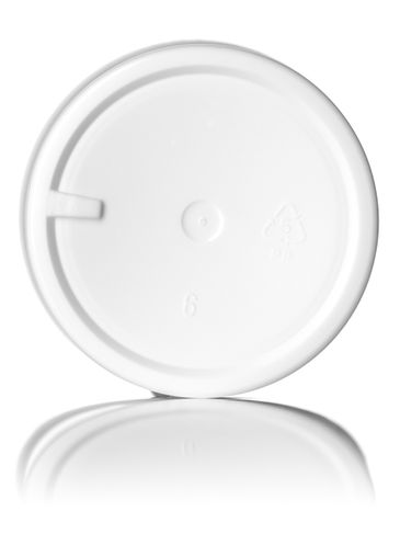 4 oz white PP plastic single wall jar with 58-400 neck finish