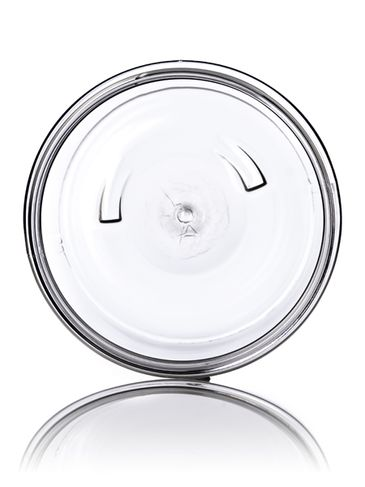 4 oz clear PS plastic single wall jar with 70-400 neck finish